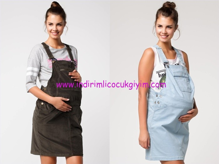 DeFacto 2015 hamile salopet bahçıvan elbise modelleri