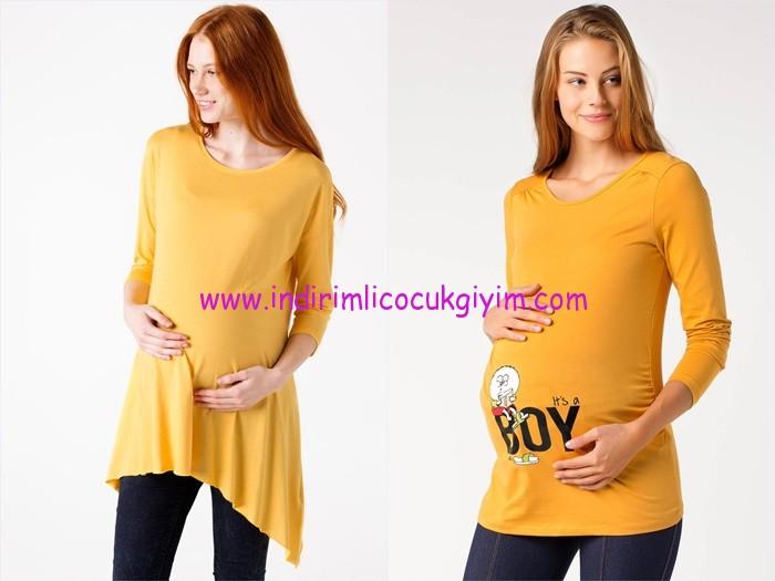 DeFacto 2015 sarı hamile bluz modelleri-20 TL