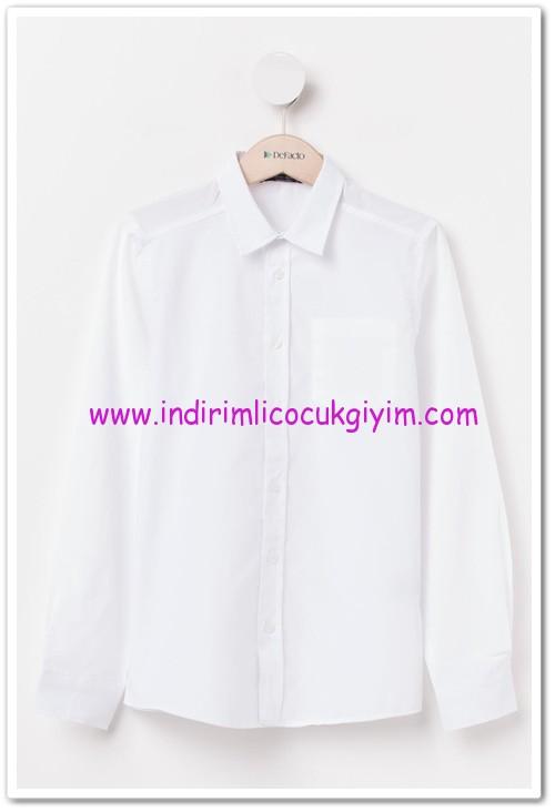 DeFacto genç erkek beyaz gömlek-15 TL
