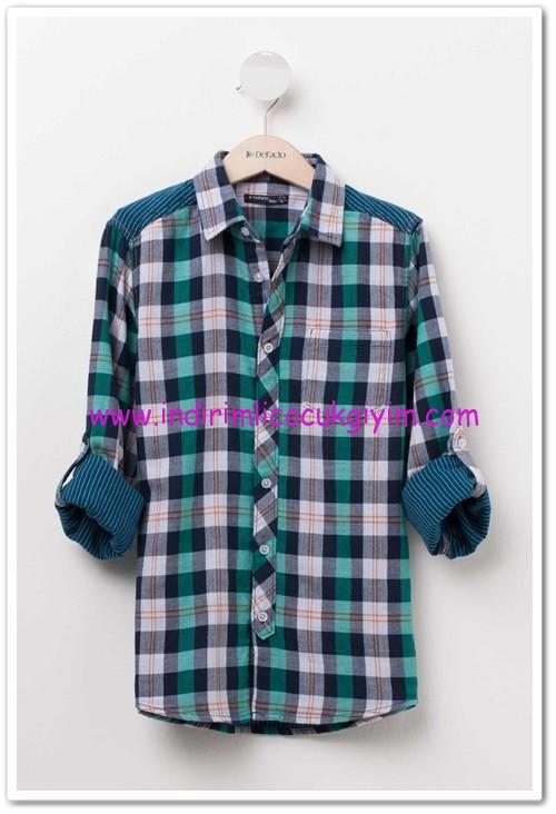DeFacto genç erkek kareli gömlek-30 TL