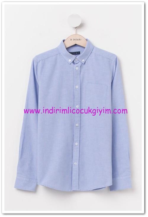 DeFacto genç erkek mavi gömlek-25 TL