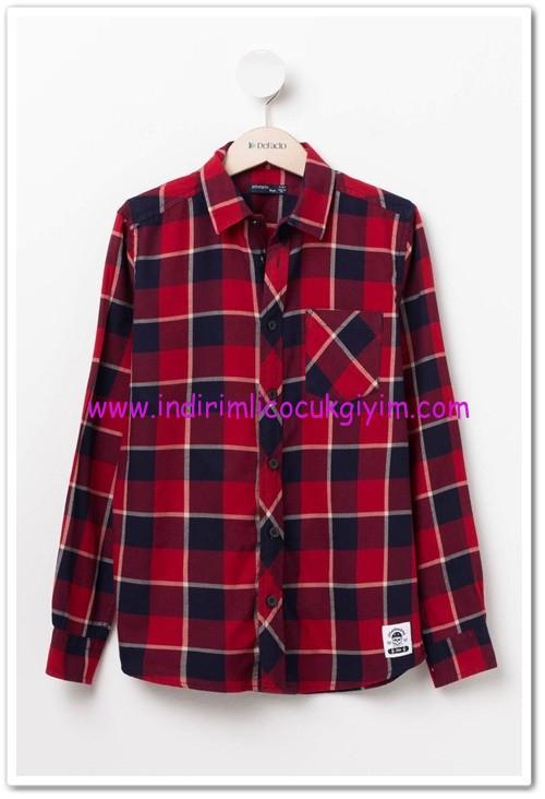 DeFacto kırmızı ekose genç erkek gömlek-30 TL