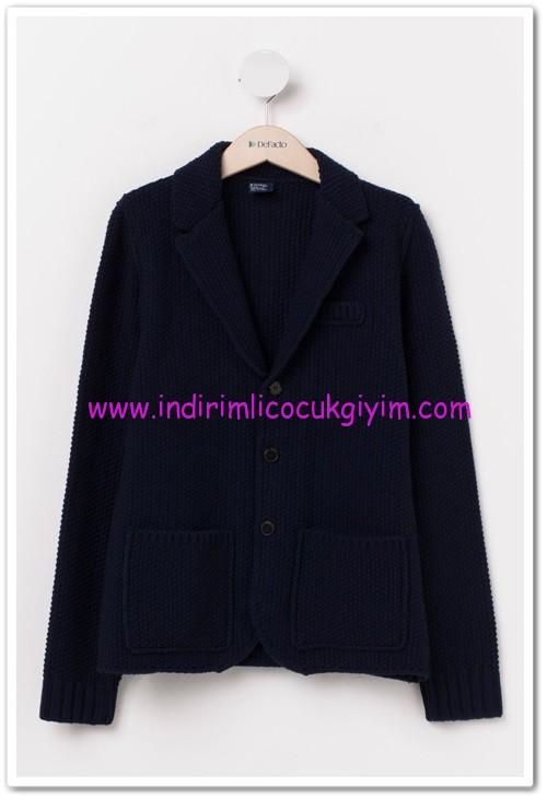 DeFacto lacivert genç erkek örme ceket-50 TL