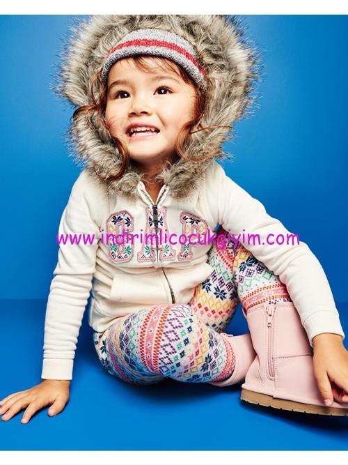 Gap kız çocuk kapüşonlu logolu sweatshirt-120 TL