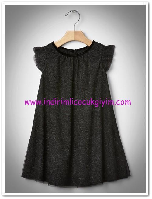 Gap kız çocuk siyah simli kanat detaylı elbise-160 TL