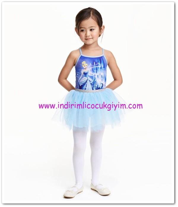 HM kız çocuk mavi balerin elbisesi-60 TL