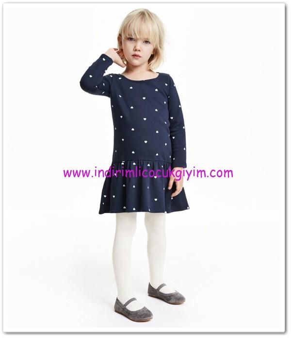 HM-koyu mavi kapli sweatshirt elbise-30 TL