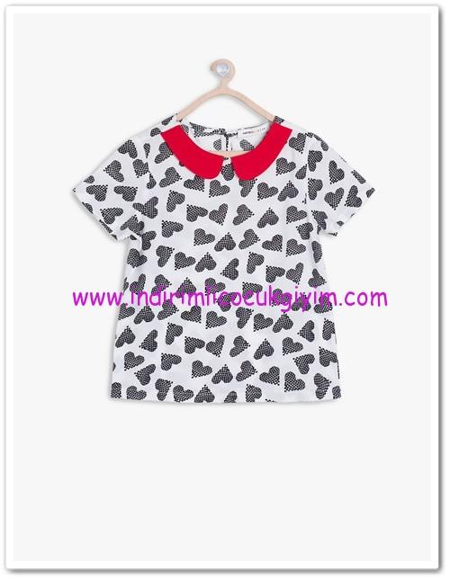 Koton kız çocuk kalp baskılı bluz-13 TL