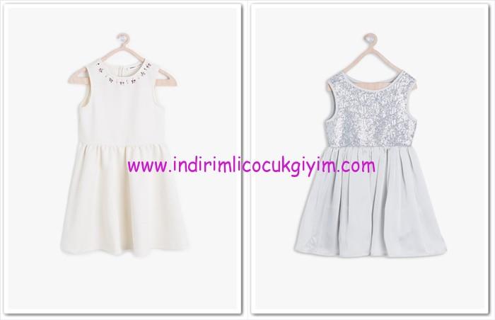 Koton kız çocuk outlet elbise modelleri