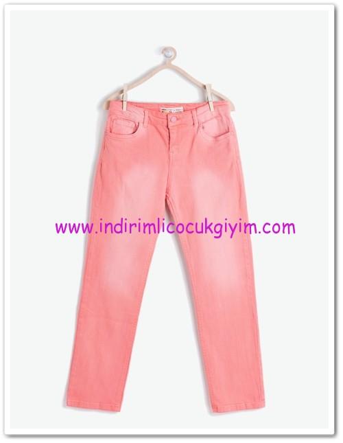 Koton kız çocuk pembe dar kesim denim pantolon-23 TL