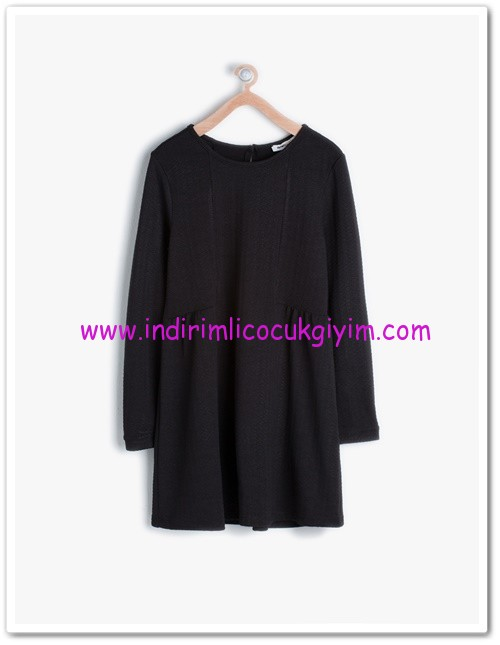 Koton kız çocuk siyah bisiklet yaka elbise-20 TL