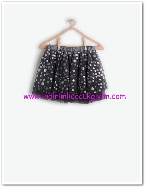 Koton kız çocuk siyah puantiyeli tül etek-20 TL