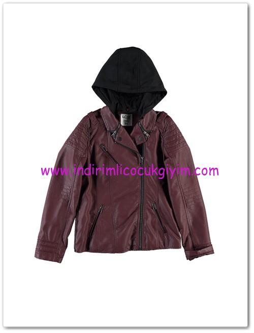 LCW genç kız bordo deri ceket-60 TL