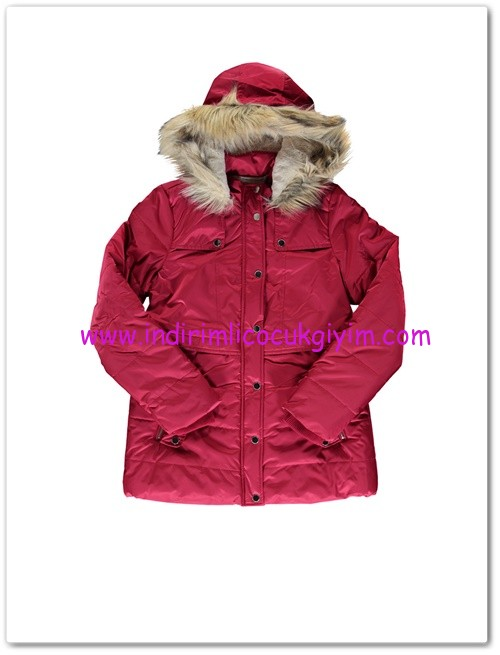 LCW genç kız kapüşonlu kırmızı kaban-100 TL