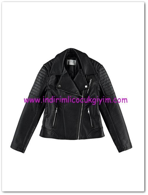 LCW genç kız siyah deri ceket-60 TL
