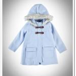 LCW kız çocuk bebe mavisi kapşonlu kaban-70 TL