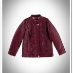 LCW kız çocuk bordo deri ceket-50 TL
