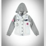 LCW kız çocuk kapüşonlu ağartılmış kot ceket-30 TL
