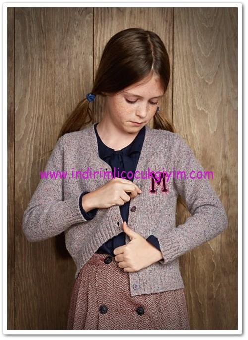 Mango kız çocuk lavanta rengi yün-ipek karışımlı hırka-45 TL