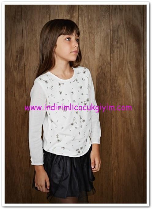 Mango kız çocuk outlet beyaz bluz-45 TL