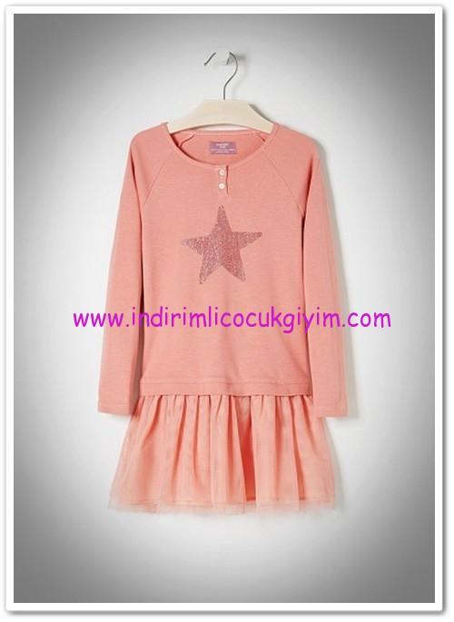 Mango kız çocuk pamuklu elbise-45 TL
