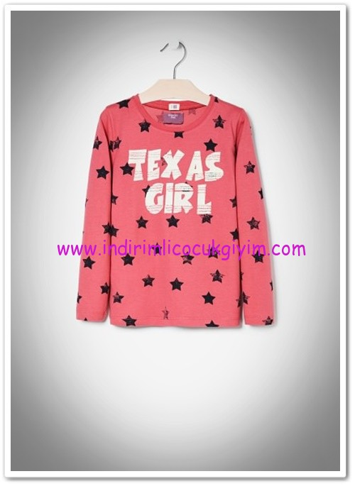 Mango kız çocuk parlak yazılı tişört-20 TL