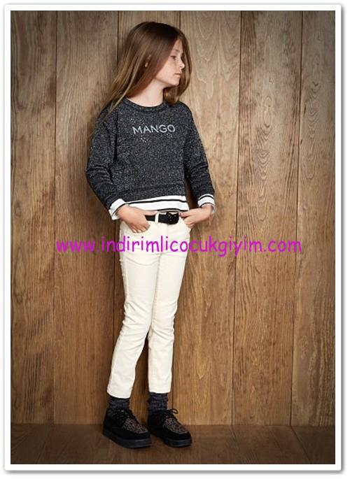 Mango kız çocuk süper skinny kadife pantolon-35 TL