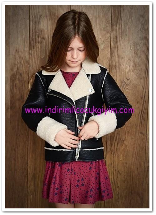 Mango kız çocuk siyah ceket-100 TL