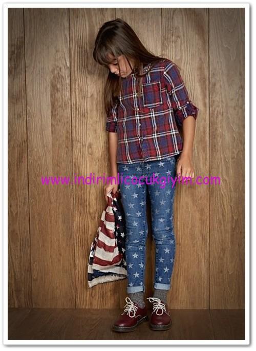 Mango kız çocuk skinny yıldız jean pantolon-45 TL