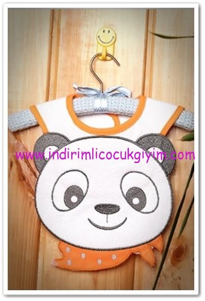 Tozlu Giyim pandalı bebek önlüğü-13 TL