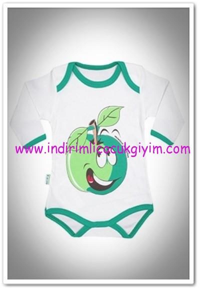 Tozlu giyim elma baskılı uzun kol body-14 TL