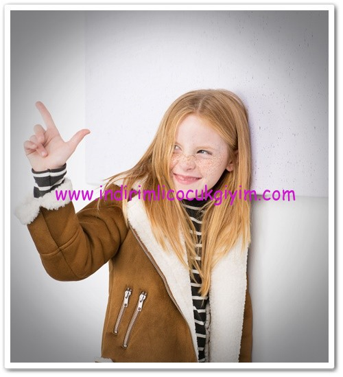 Zara kız çocuk camel polar ceket-150 TL