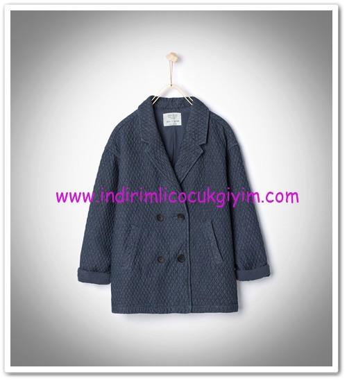 Zara kız çocuk kapitone denim palto-110 TL