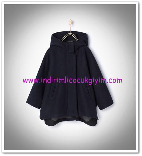 Zara kız çocuk lacivert kapüşonlu pelerin-150 TL