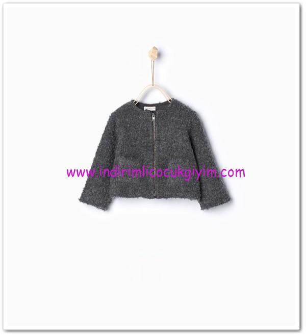 Zara kız bebek füme fermuarlı ceket-56 TL