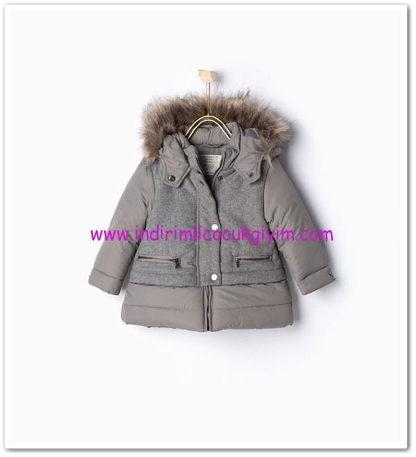 Zara kız bebek kapüşonlu palto-130 TL