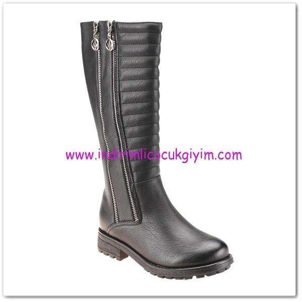 FLO kız çocuk siyah çift fermuarlı çizme-80 TL