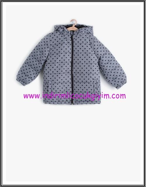 Koton kız çocuk gri kalpli şişme mont-40 TL