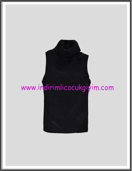 LCW genç kız siyah boğazlı kolsuz kazak-15 TL