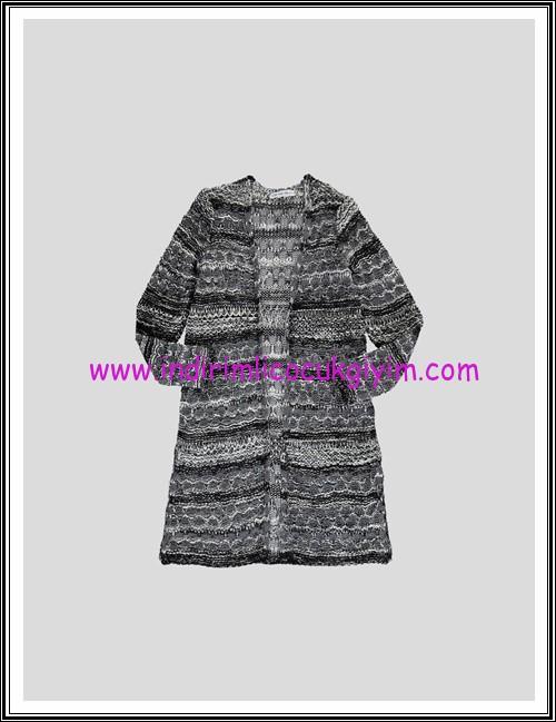 LCW genç kız siyah-gri hırka-45 TL
