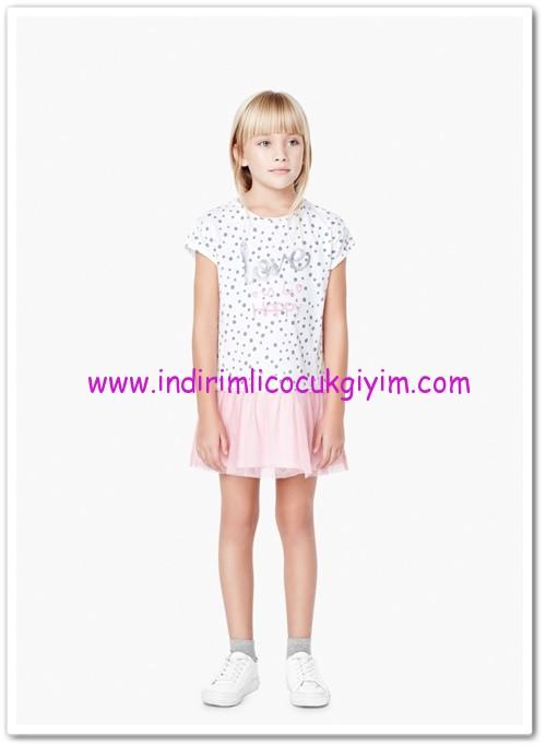 Mango kız çocuk beyaz tül etekli elbise-35 TL