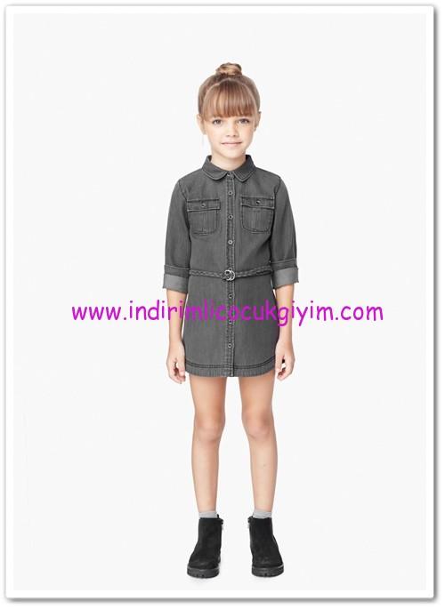 Mango kız çocuk cepli kot elbise-40 TL