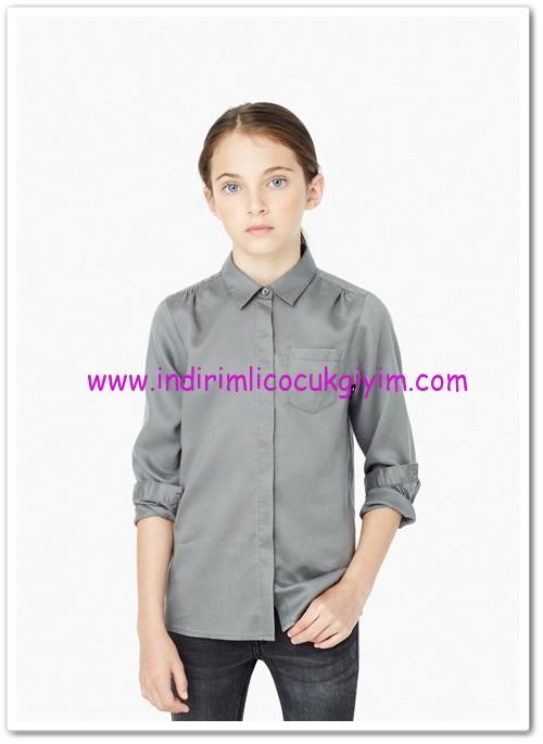 Mango kız çocuk gri gömlek-35 TL