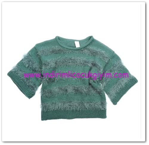 Panço kız çocuk petrol kazak-38,50 TL