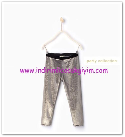 Zara kız çocuk gümüş parlak tayt-30 TL