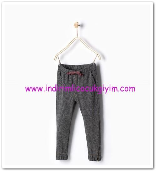Zara kız çocuk gri örgü harem pantolon-36 TL