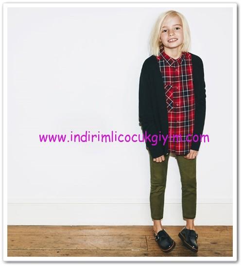 Zara kız çocuk haki dar pantolon-36 TL