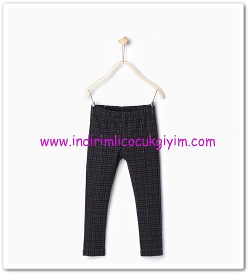 Zara kız çocuk mavi kareli pantolon-30 TL