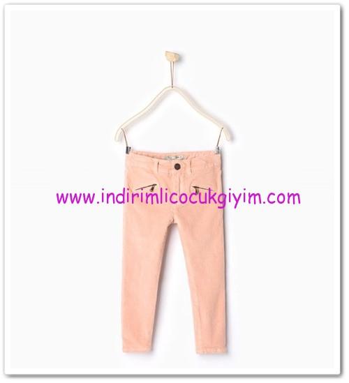 Zara kız çocuk pembe kadife pantolon-36 TL