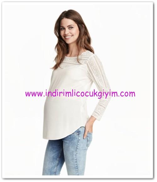 HM-beyaz dantel bluz-70 TL
